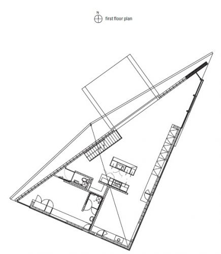 First Floor Plan | House at Big Hill / Kerstin Thompson Architects