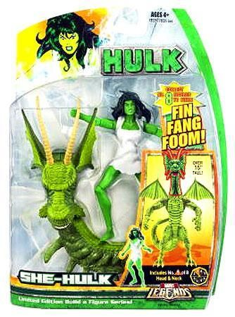 Includes a piece to build the Fing Fang Foom build-a-figure. She-Hulk Action Figure Marvel Legends Hasbro Toys