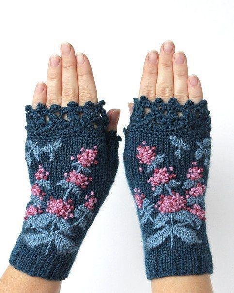 guantes sin dedos hermosos de Natali Bran