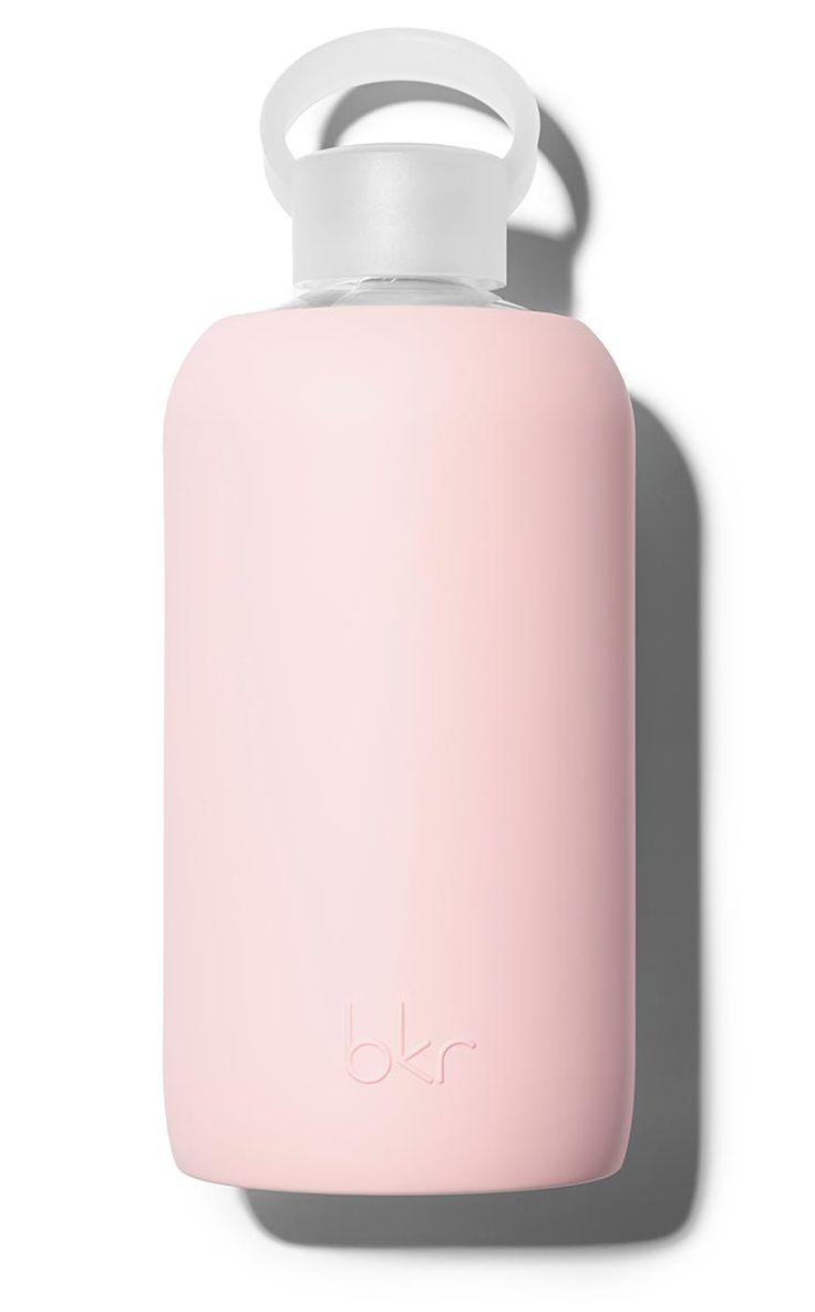bkr 1L Glass Water Bottle Color: Pout- Opaque pouty light pink