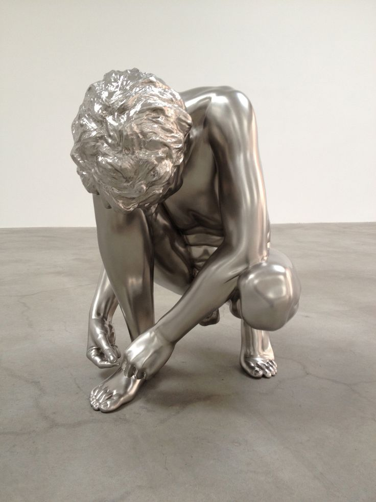 Charles Ray, Shoe Tie, solid stainless steel, 2012. - newyorkarttours.com