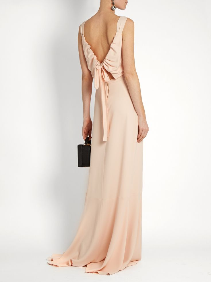 Open tie-back gown | Rochas | MATCHESFASHION.COM