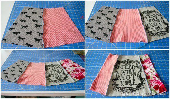 upcycled tshirt 5 pieces w tie sting skirt tutorial