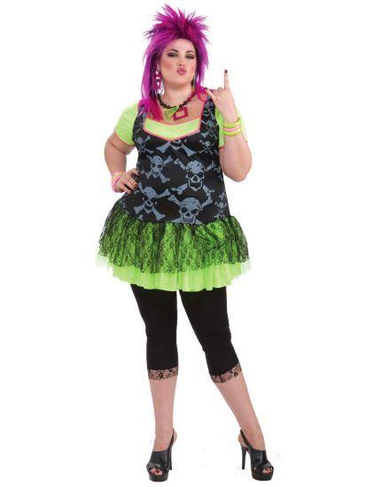 80's Punk Lady Costume   Plus Size 80s Halloween Costumes