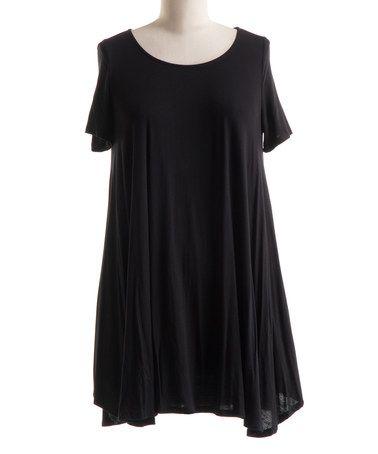 Look at this #zulilyfind! Black Swing Tunic Dress - Plus #zulilyfinds
