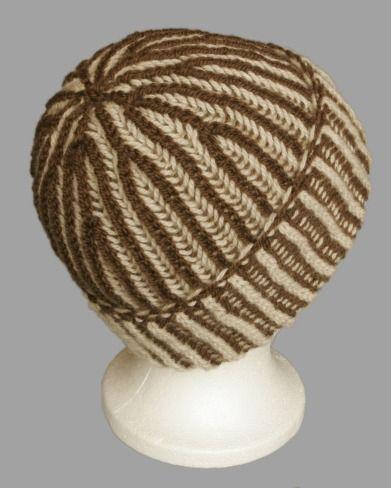 Circular Bicolour Prime Rib (Brioche) Free Hat Pattern