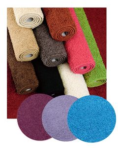 Fiji Rectangular Shaggy Pile Rug Modern rug with a shaggy loop pile and an anti slip latex backing in various colours and sizes