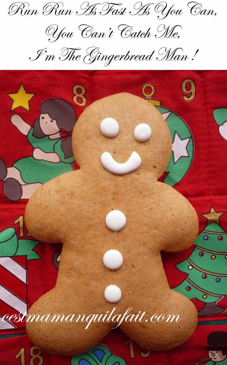 Pas de Noël chez nous sans bonhommes en pain d'épice. J'attache une affection toute particulière à ce petit gars, car j'adore la vielle comptineanglaise dont il provient. Voici la recette et l'origine des bonshommes en pain d'épices, ainsi