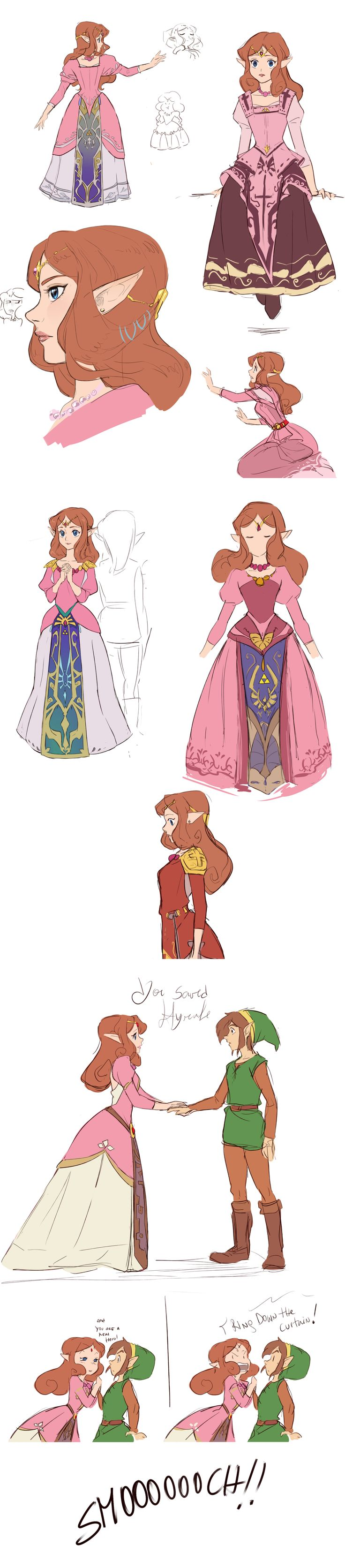 I'm really tired of the color pink. This is like a redesign of the first Zelda (? I want to believe that it wasn't a lost of time but.. oh my, the pink color just saturated myself, I can't say more than this haha ( but it was fun)