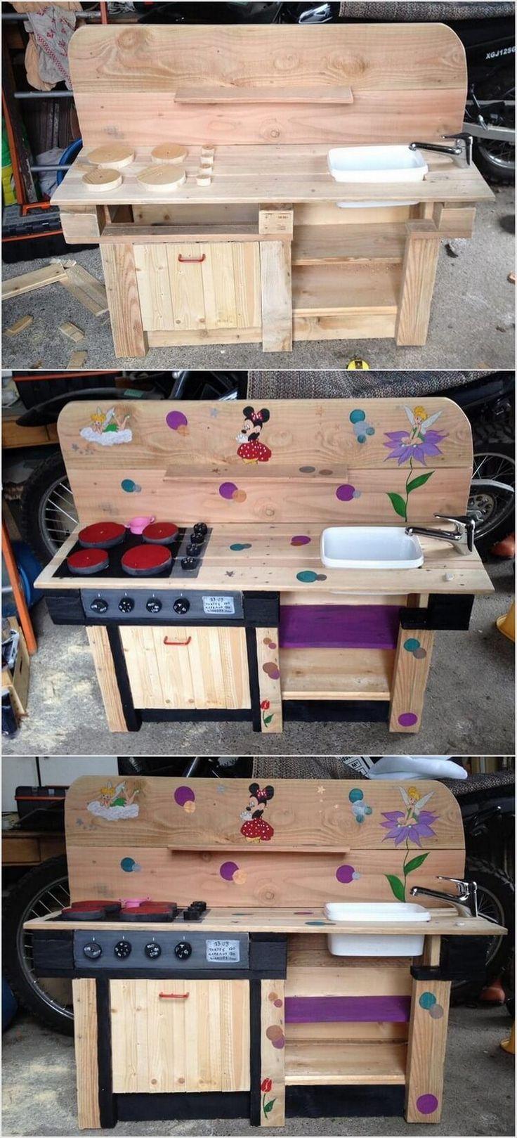 Mud kitchen upcycled pallet mud kitchen pallet kitchen counter with - Pallet Mud Kitchen For Kids