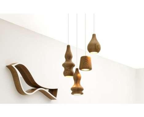 Wavy Wood Lighting  The Blub Lamps by Fermetti are Cute, Minimalist and Entirely Elegant