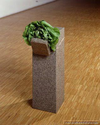 GIOVANNI ANSELMO : granite laitue fil de cuivre