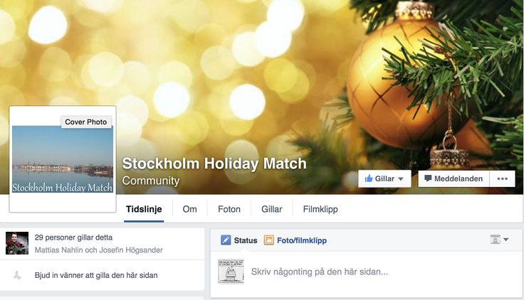 Matching people in Stockholm who have nowhere to celebrate the holidays, i.e. Christmas, with people who are open to sharing a spot at their table. https://www.facebook.com/StockholmHolidayMatch/?notif_t=fbpage_fan_invite