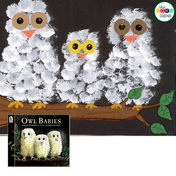 """Represent """"Owl Babies"""" with this cute art project."""