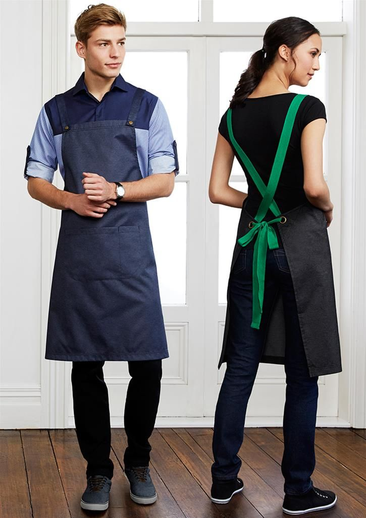 Urban bib apron, 4 colours / Embroidery / Printing / Logo / chef Uniforms / Hospitality / Coffee shop / Apron / Activ Embroidery Designs / activembroidery.com.au
