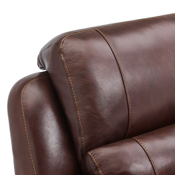 Finley 2 Seater Sofa With 2 Electric Recliners Headrest Two Tone Brown Leather Tan Leather Sofas Brown Leather Armchair Tan Leather Armchair