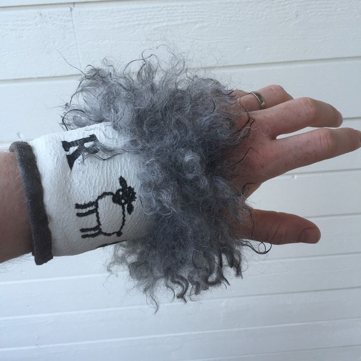In demand now: wrist warmers! Working hard to keep up with requests.
