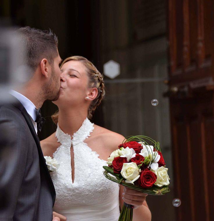 Bouquet de Mariée en rouge et blanc - Sabrina Naglieri