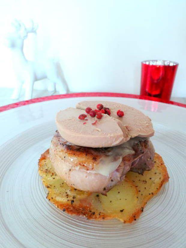 Tournedos de magrets de canard au foie gras et BeaufortVoir la recette des…