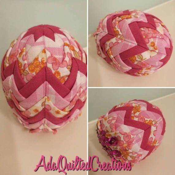 Easter egg ornaments fabric easter decorative eggs folded