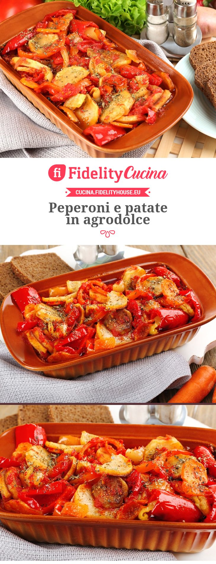 Peperoni e patate in agrodolce