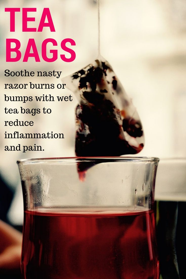 Uses for tea bags shaving left you with some nasty razor burn or bumps a wet tea bag will - Uses for tea bags ...