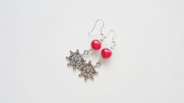 Schmuck - Ohrringe Kreis Ruder - ein Designerstück von atelier-house-decor bei DaWanda  #geschenk #weihnachtsgeschenk #fürmama #fürpapa #geschenkefinder #geschenkideen #weihnachtsmarkt #fürfreunde #füreinen #freund #fürschwester #geschenke #nachanlassideen #zumbefÜllen #aussergewÖhnliche #geschenkidee #ChristmasPresents #holidayshopping #Earrings #gift_idea #santagift #christmastree #giftbox #christmasgiftideas