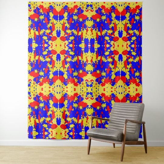 Paint Splatters Abstract Pattern Wall Tapestry