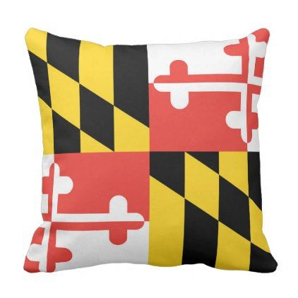 Maryland Flag Throw Pillow - college dorm gifts student students accessories freshmen