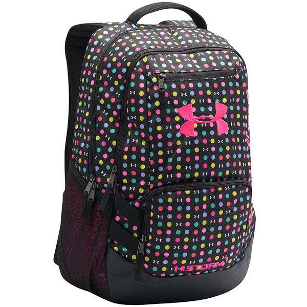 Under Armour Hustle Backpack Ii ($44) ❤ liked on Polyvore featuring bags, backpacks, black, knapsack bags, laptop rucksack, under armour bag, under armour and pocket bag