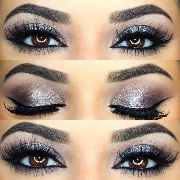 cool-toned mauve / grey metal smokey eye @makeupbymeggan w ...