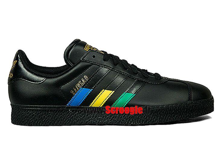 Chaussures de Originals Pas Cher Pour Homme/Femme Adidas Gazelle II Noir Multi Couleur G97299