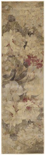 Nourison Zanibar Multicolor Large Flower 2.3-Feet by 8-Feet Polyacrylic Runner Rug by Nourison. $76.88. Densely woven, strikingly luxurious pile; traditional style. Dry clean recommended. Rug pad recommended. Machine woven in China. Power loomed in China; 50% polypropylene, 50% acrylic. 100% Polyacrylic. In this distinctive collection, premium quality Opulon yarns are used to create a densely woven and strikingly luxurious pile. The fashion appeal of the color palett...