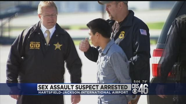 A 19 year-old man from Guatemala is jailed and facing a long list of sexual assault charges after he was arrested at Hartsfield-Jackson International Airport in Atlanta.