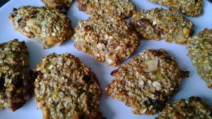 glutenvrije en suikervrije koekjes met banaan en havermout