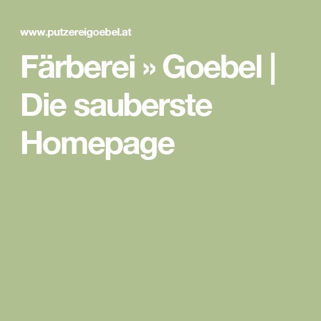 Färberei » Goebel  | Die sauberste Homepage