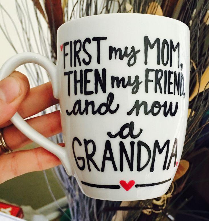Pregnancy Reveal-Grandma Aunt Uncle Grandpa- Mother's Day present- New Grandma gift idea- Pregnant Mug- Gender reveal- Grandma- Mom- Friend- by PickMeCups on Etsy