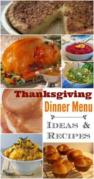Thanksgiving Dinner Menu and Planning