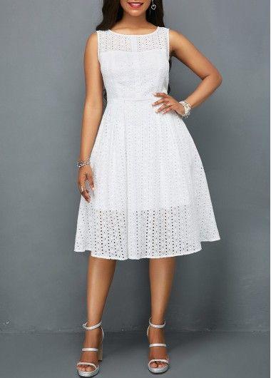 1258b78b54a V Back A Line High Waist Dress on sale only US 35.78 now