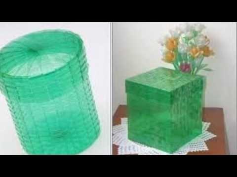 Manualidades - Como hacer canasta con botellas recicladas - RECICLAJE - YouTube