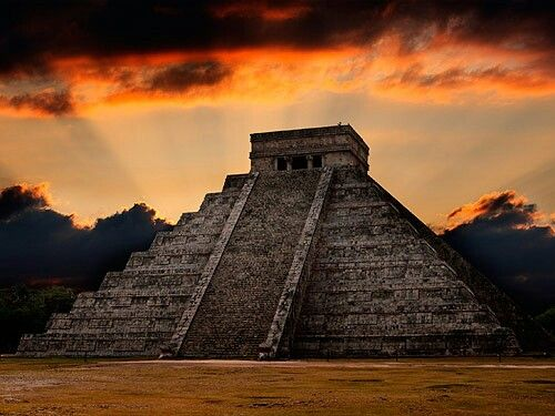 CHICHEN ITZA in Mexico. Mexico's most famous Mayan city, dating back more than 1500 years, lies on Yucatan Peninsula. The main attraction is central pyramid El Castillo, believed to be a temple and calender of Mayan tribes.