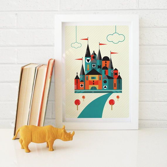 Castle Print // Kids Room Wall Art by Timi