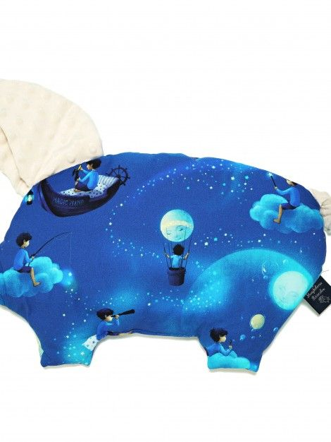 Sleepy Pig pillow - moon collection- Ecru