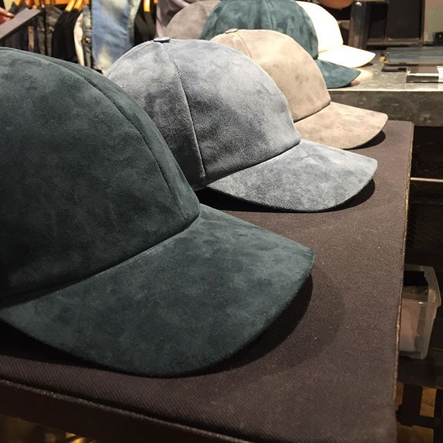 Stop by @goodmans today between 1-6pm to be one of the first people to shop our new suede baseball caps! #vianelnewyork #luxury #agoodtimeatgoodmans