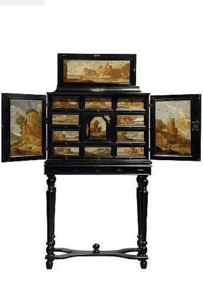 Circle of Jacob Sibrandi Mancadan , a Dutch 17th Century cabinet