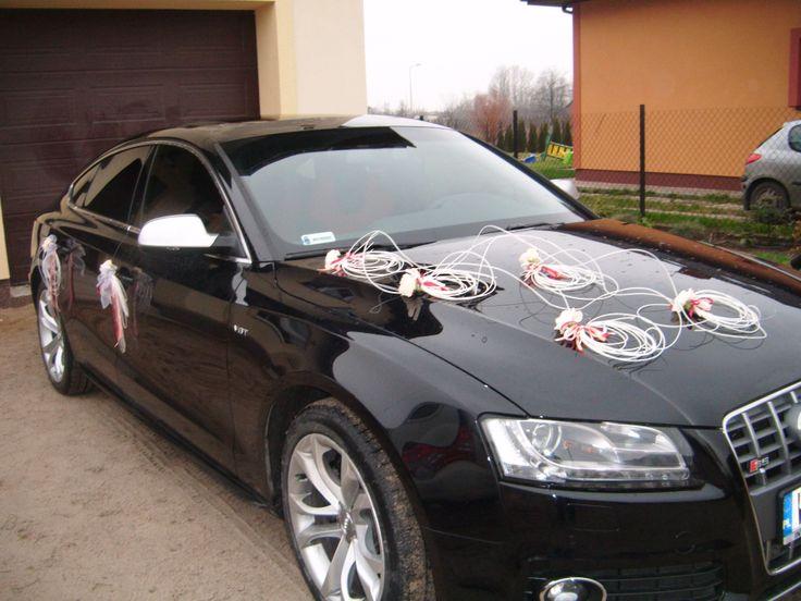 Ślubna dekoracja auta - Wianki