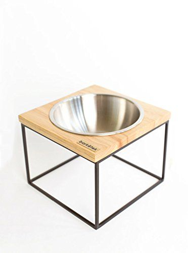 Design Dog Bowl  woodaluminumstainless steel 19 x 19 x 155 cm >>> More info could be found at the image url.