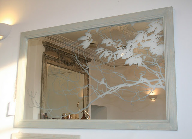 Love this etched mirror!