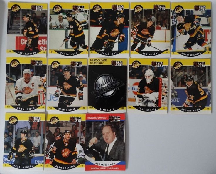 1990-91 Pro Set Series 2 Vancouver Canucks Team Set of 13 Hockey Cards #VancouverCanucks