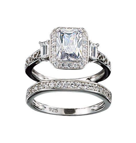 Avon Cz Emerald Cut Cocktail Ring